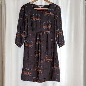 Boden sz4 Charcoal Westminster scoop tunic dress